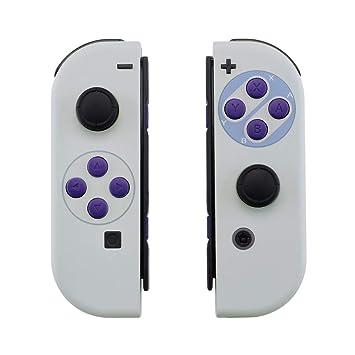 eXtremeRate Carcasa Esmerilada para Nitendo Switch Joy-con, Funda de Agarre de reemplazo Joycon Shell con Botón Completo para Nitiendo Switch No ...