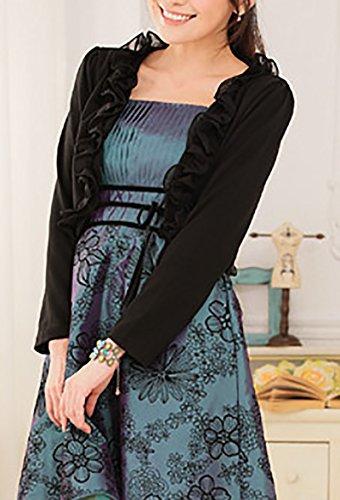 Moda Corti Donne Bolero Solido Casual Di Donna Elegante Manica Vestiti Lunga Taglie Nero Cardigan Cappotto Unique Forti Colore Piccolo vxq0YTP0w