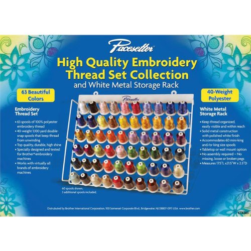 Brother ETKS63 Pacesetter Embroidery Sewing Thread Set by Brother