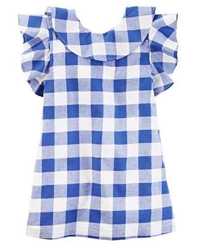 Carter's Toddler Girl's Jersey Dress (4T, Navy/Gingham) (Navy Gingham Dress)