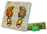 Acupoint Foot Massager Stepping Board Plus 3 FREE bags of Foot Soak & Bath Herbs samples $10 Value