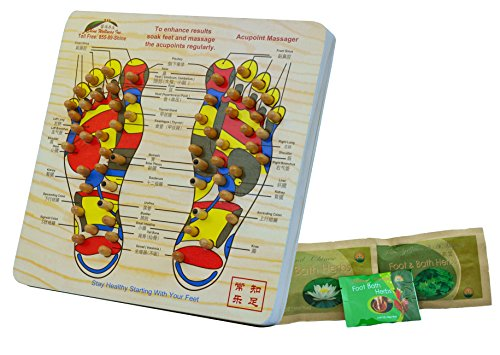 Acupoint-Foot-Massager-Stepping-Board-Plus-3-FREE-bags-of-Foot-Soak-Bath-Herbs-samples-10-Value