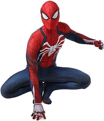 Super fantasia Traje de Cosplay de Spiderman PS4 Medias elásticas ...