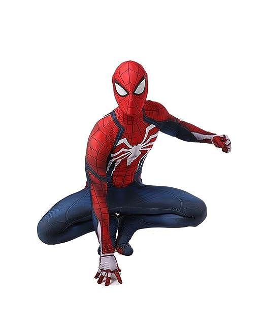 Super fantasia Traje de Cosplay de Spiderman PS4 Medias elásticas Halloween Show de disfraces de disfraces accesorios de la película de disfraces