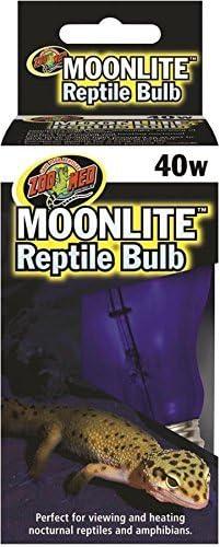 (3 Pack) Zoo Med Moonlight 40 Watt Reptile Bulbs