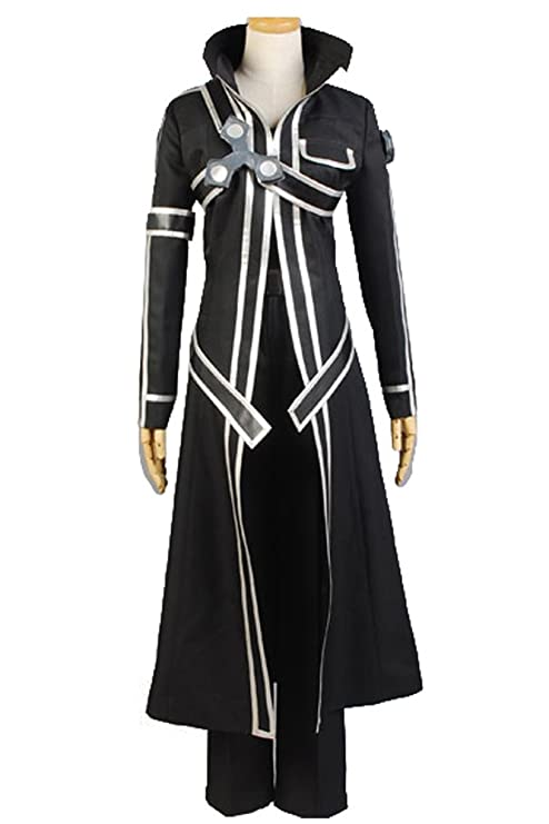 8cdc8702ade5 Sword Art Online Kazuto Kirigaya Kirito Anime Cosplay Halloween Costume  Black