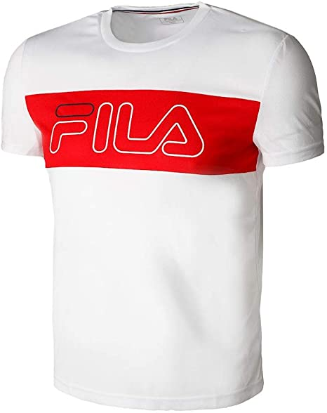 Fila Reggie - Camiseta de Tenis de Manga Corta para Hombre: Amazon.es: Deportes y aire libre