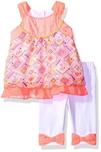 Little Lass Baby Girls' 2 Pc Chiffon Skimmer Set, Pink, 24M