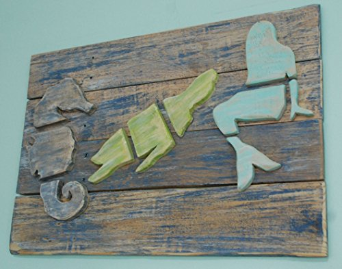 Layered-Wood-on-Wood-Sea-Life-Mermaid-Sea-Turtle-Seahorse-in-the-Ocean-Wood-Wall-Art