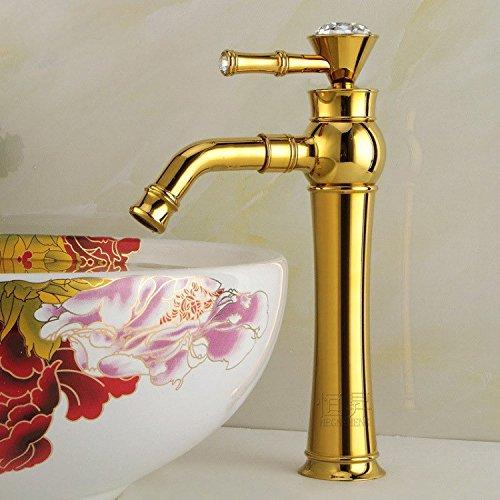 MMYNL TAPS MMYNL Waschtischarmatur Bad Mischbatterie Badarmatur Waschbecken Antike Kupfer Gold legen Sie bohren Badezimmer Waschtischmischer