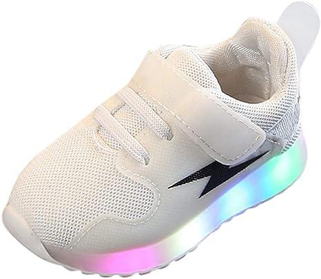 LED Chaussures Enfant 7 Couleurs LED Lumière Sneakers USB