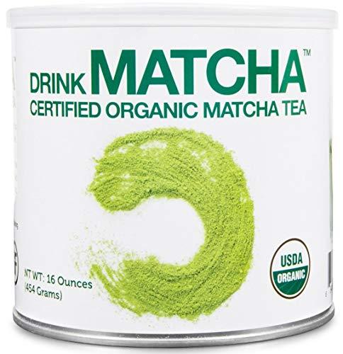 DrinkMatcha - Matcha Green Tea Powder - USDA Organic - 100% Pure Matcha Green tea Powder - Nothing added (16 Ounce) (Green Tea Powder Japan)