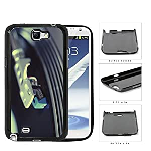 Vinyl Gramophone Record On Needle Hard Plastic Snap On Cell Phone Case Samsung Galaxy Note 2 II N7100
