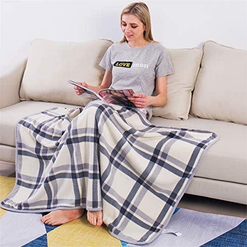 Lightweight Warm Super Soft Sherpa Fleece Wearable Plush Throw Blanket (White)