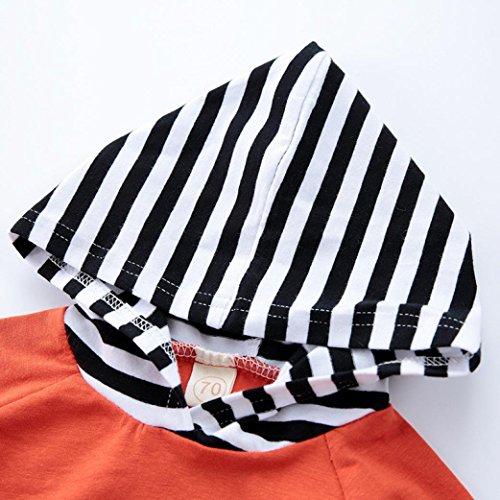Baby Kleidung Longra Neugeborenen Unisex Baby Warm Hoodie T-Shirt Top + Hose Baby Kapuzenpullover Outfits Set Kleidung Set Orange