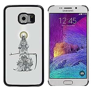 Cubierta protectora del caso de Shell Plástico    Samsung Galaxy S6 EDGE SM-G925    Grim Reaper Moon Scythe Grey @XPTECH