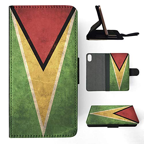 Guyana Country Flag Flip Wallet Phone Case Cover for Apple iPhone XR ()