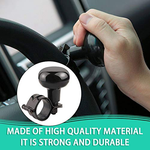 Universal Steering Wheel Spinner Heavy Duty Car Truck Handle Suicide Power Knob with Clamp Vehicles Accessories-Black