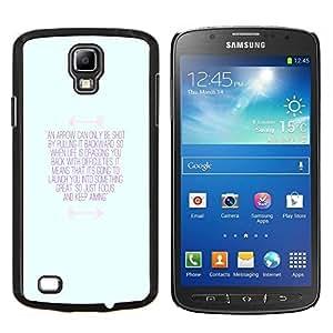TECHCASE---Cubierta de la caja de protección para la piel dura ** Samsung Galaxy S4 Active i9295 ** --inspirador azul mensaje de motivación