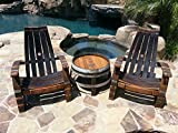 2 Wine Barrel Adirondack Chairs and side table