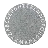 Lahome ABC Alphabet Kids Round Rug - 3