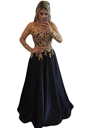 Ruisha Women Lace Beaded Long Sleeves Prom Evening Dresses 2018 Long Formal Party Gown RS0125 US