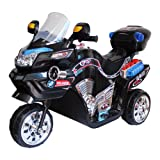 Lil' Rider Ride on Toy, 3 Wheel Motorcycle for Kids, Battery Powered Ride On Toy by Ride on Toys for Boys and Girls, 2 - 5 Year Old - Black FX