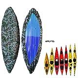 Universal Camouflage Waterproof Sunblock Storage Dust Cover Shield for (2.6-3M / 8.5-9.8ft),(3.6-4M / 11.8-13.1ft) 2 Size Range Kayak/Canoe