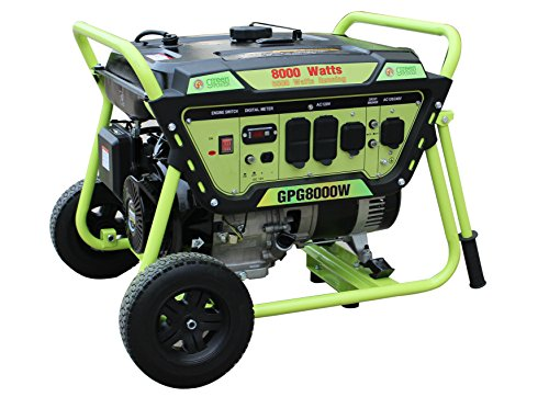 Green-Power America GPG8000W 8000W Pro Series Recoil Start Generator