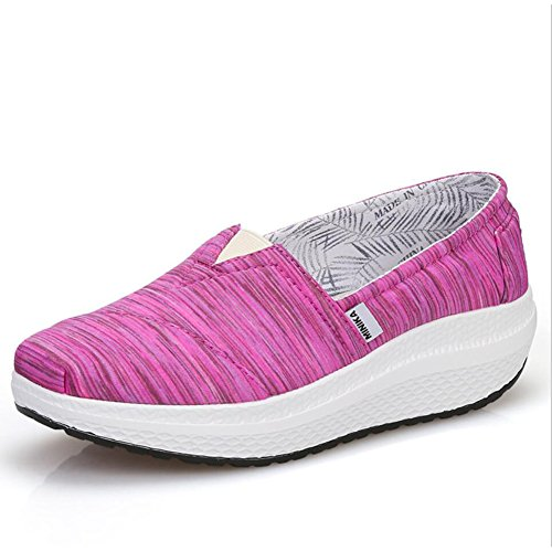 sport Chaussures Femmes Conduite de Chaussures Fitness Une Slip Sneakers Chaussures de Chaussures Shake Chaussures Printemps Mocassins Shaking amp; Mocassins Chaussures Toile plats Shake Chaussur Ons Automne TznTvgPrqA