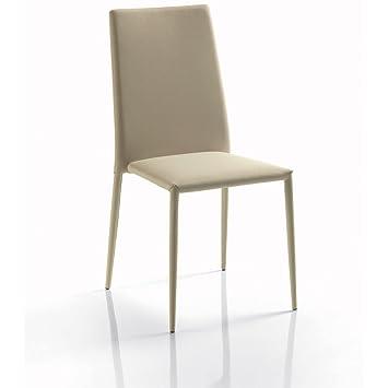 Bontempi Juego de 4 sillas apilables Malik Acolchados de sintética ...