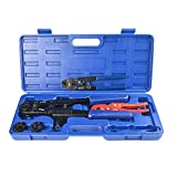 IWISS F1807 Copper Ring Crimping Tool Kit for 3/8',1/2',3/4',1' - Free Removal Tool& Pex Pipe Cutter&Gauge- For All US F1807 Standards