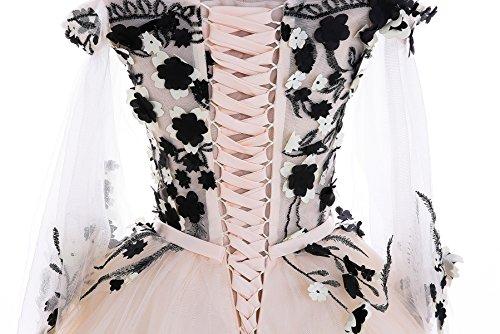 Robes 14 Goddess Orateur Partie 4 Dentelle Champange Soirée Train Banquet De Broderie Robes Manches Luxe Balayer De Photographie De Sun AfURRZ
