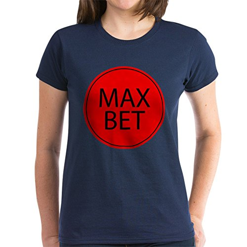 CafePress - Max Bet - Womens Cotton T-Shirt Navy, used for sale  Delivered anywhere in USA