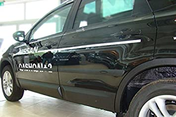 Listones de protección lateral Puerta - Listones para Nissan Qashqai + 2: Amazon.es: Coche y moto