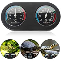 Reptile Analog Dual Thermometer and Humidity Gauge, UMIWE Humidity and Temperature Monitor, Analog Gauges for Accurate Readings, Best Popular uses for Incubators, Brooders, etc - No Battery Needed