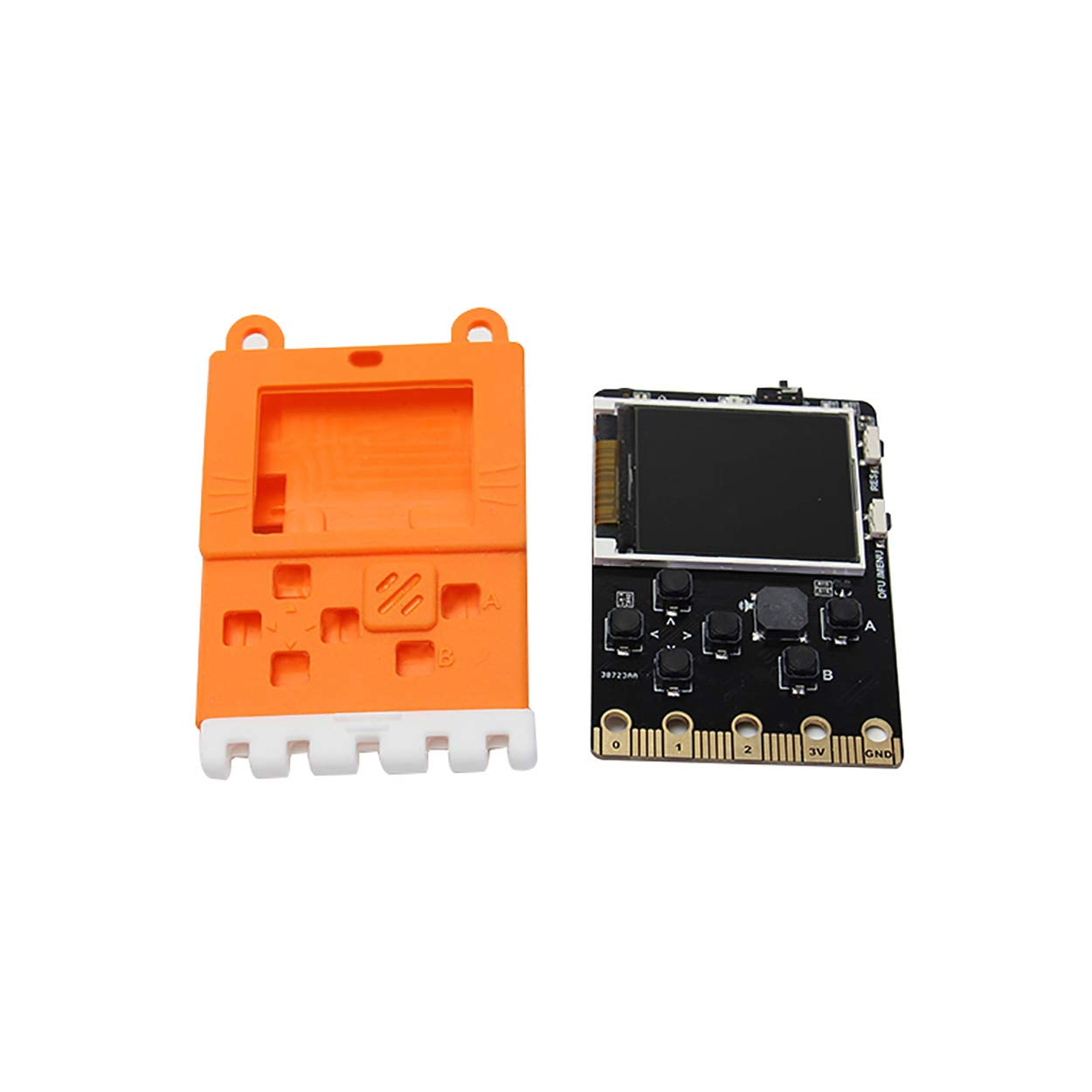 Kittenbot Meowbit Card-Sized Retro Game Computer Codable Console for Microsoft Makecode Arcade and Python Video Game Console Compatible with Micro:bit Expansion Board for Robot Building(Orange) by KittenBot (Image #2)