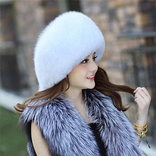 KAIJIN Star Fur Hat Fox Lady Chapeau De Fourrure Lei Feng Chapeau Oreille Chapeau De Fourrure Must-Have Chapeau Bombardier Chapeau Avec Fourrure De Ski En Plein Air Équitation