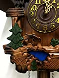 Rylai Vintage Wall Clock Handcrafted Wood Cuckoo