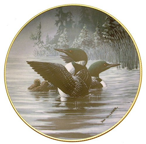 Dominion China Early Start The Loon Voice of The NorthDon Di Leger Water Bird Plate HJ228