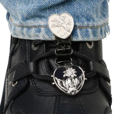 Ryder Clips Laced Boot Type (Heart/Skull Chrome), HSLC-FC