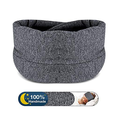 Sleep Mask Blackout - Comfortable and Breathable Cotton Adjustable Eye Mask for Sleeping - Best Night Eyeshade Companion