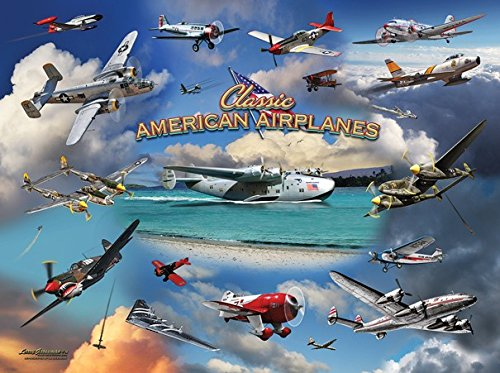 Classic American Planes 1000 Piece Jigsaw Puzzle by SunsOut