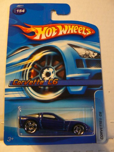 CHEVY CORVETTE C6 Hot Wheels 1:64 Scale BLUE Chevy Corvette C6 Die Cast Car #154