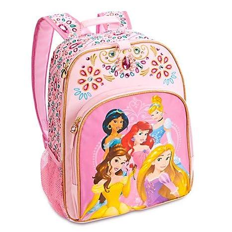 De Princesas Disney Mochila con Rapunzel, Jasmine, Ariel, Bella y Cenicienta.: Amazon.es: Juguetes y juegos