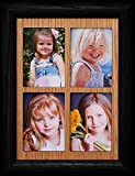 JoyceBoyce.com 2x3 Wallet Window Picture Frame ~ Holds 4-Portrait 2x3 Wallet Photos Gift for Grandparents!