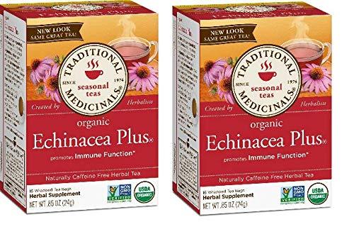 - Traditional Medicinals Organic Echinacea Plus Tea: 32 TEA Bags