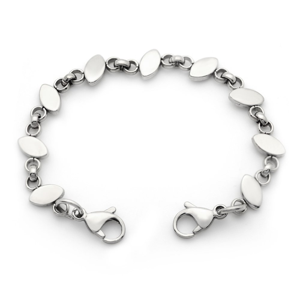 Ladies Medical ID Stainless Steel Oval Chain Replacement Bracelet