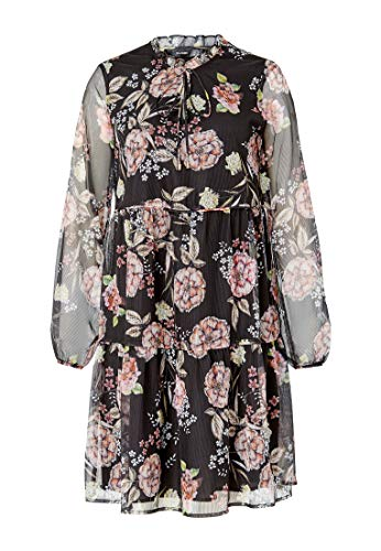 Linie A Hallhuber Georgette Stufiges Multicolor Kleid xUYA8F