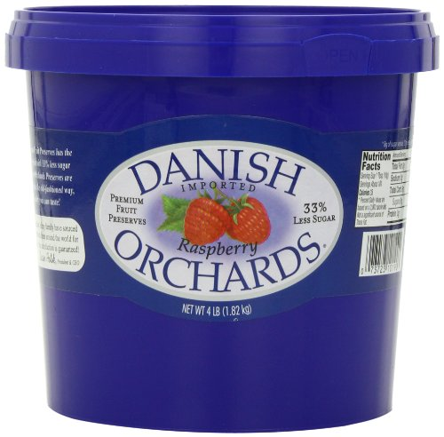Danish Orchards Preserves, Raspberry, 4-Pound (Pack of 3)